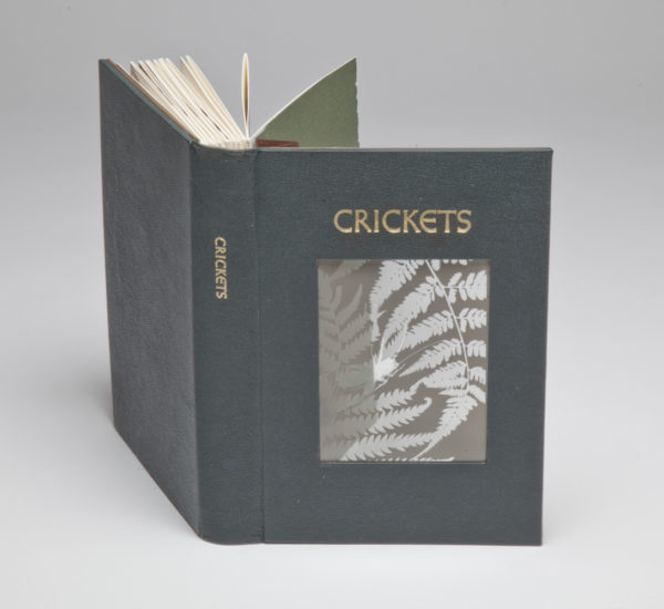 Crickets cover showing ambrotype
