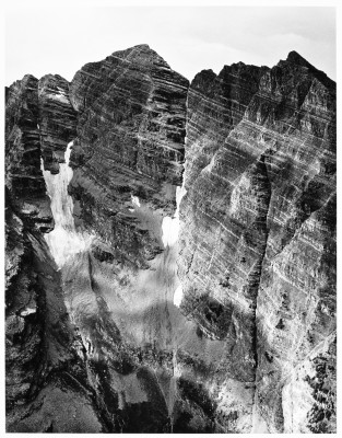Face of The Maroon Bells - Elk Mountain Range Series - photographed in 1981-1982 printed in 2008-2009