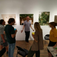 Michael Foley leading an Exhibition Lab critique